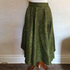 Vintage felt midi skirt